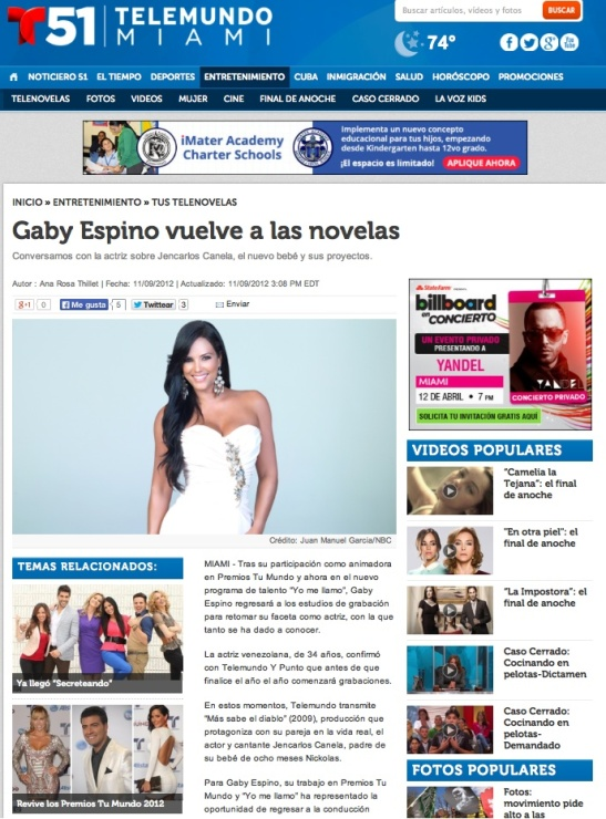 Gaby Spino interview