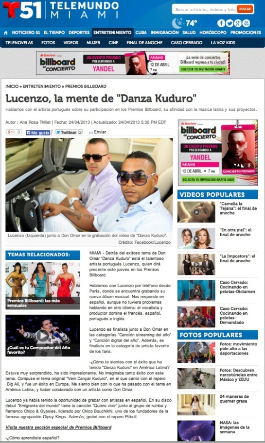 Lucenzo interview