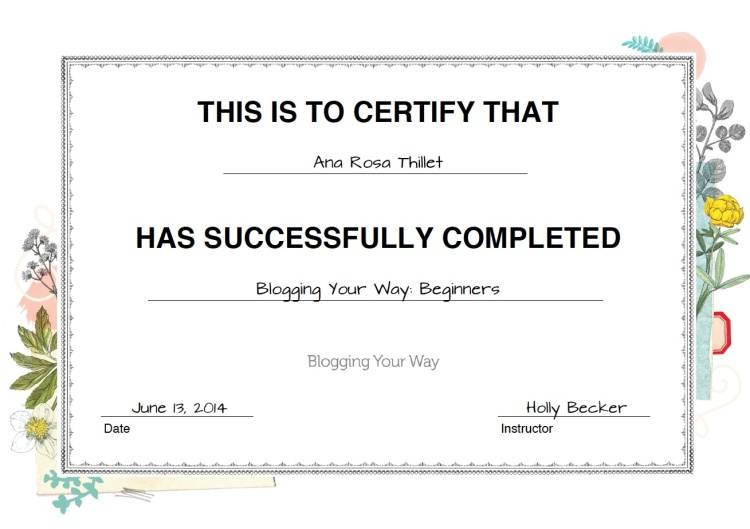 blogging-your-way-certificate